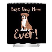 Bestdogmomever Boxer Shower Curtain