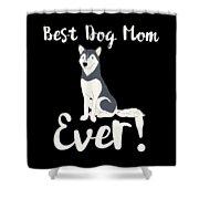 Bestdogmomever Husky Shower Curtain
