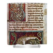 Bestiary: Lion Shower Curtain