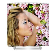 Resting Bloom Shower Curtain