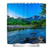 Betari River Shower Curtain by Fabio Giannini
