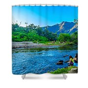 Betari River-1 Shower Curtain by Fabio Giannini