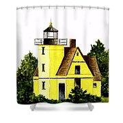 Bete Gris Lighthouse Shower Curtain