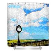 Bethany Beach Clock Shower Curtain