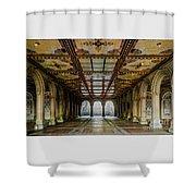 Bethesda Terrace Arcade 3 Shower Curtain
