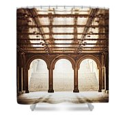 Bethesda Terrace In Color Shower Curtain