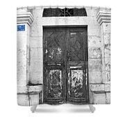 Bethlehem - Aged Door Shower Curtain