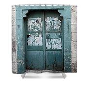 Bethlehem - Blue Door Shower Curtain