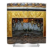 Bethlehem - Grotto Silver Star Shower Curtain