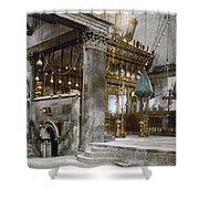 Bethlehem - Inside Nativity Church 1890 Shower Curtain