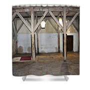 Bethlehem - Main Entrance To Nativity Church Shower Curtain
