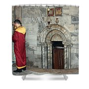 Bethlehem - Nativity Church - Preparation For Armenian Mass Shower Curtain