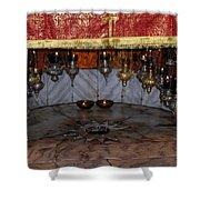 Bethlehem - Nativity Church - Silver Star Shower Curtain