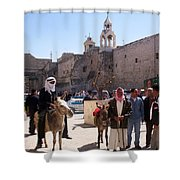 Bethlehem - Nativity Square Demonstration Shower Curtain