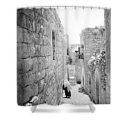 Bethlehem - Old Woman Walking 1933 Shower Curtain