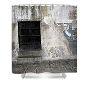 Bethlehem - The Black Door Shower Curtain