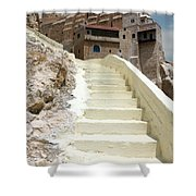 Bethlehem - The Way To Mar Saba Monstary Shower Curtain