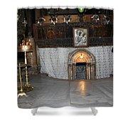 Bethlehem - Woman During Pray Shower Curtain