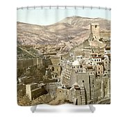 Bethlehem Mar Saba Monastery Shower Curtain