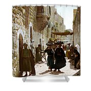 Bethlehem Merchant Street Shower Curtain