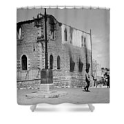 Bethlehem Police Barracks Burned Down On 1938 Shower Curtain