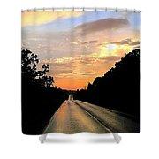 Bethlehem Road Sunset Shower Curtain