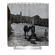 Bethlehem Street Scene 1911 Shower Curtain