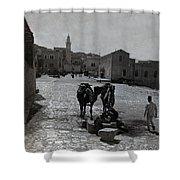 Bethlehem Street Scene 1911 Shower Curtain