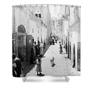 Bethlehem The Main Street 1800s Shower Curtain