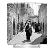 Bethlehemite Going To The Market Shower Curtain