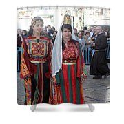 Bethlehemites In Traditional Dress Shower Curtain
