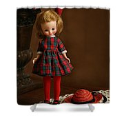 Betsy In Plaid Shower Curtain