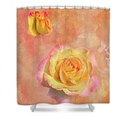 Betsy's Roses Shower Curtain