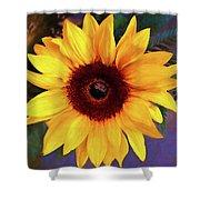Betsy's Sunflower Shower Curtain