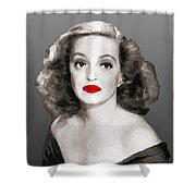 Bette Davis Draw Shower Curtain