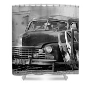 Better Days In Black And White Shower Curtain