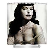 Bettie Page, Pinup Model Shower Curtain