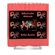 Betty Crocker's Abstracts - Betty's Bowties Shower Curtain
