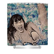 Betty Page Shower Curtain