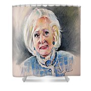 Betty White In Boston Legal Shower Curtain