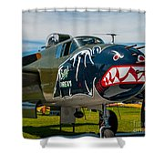 Betty's Dream Landed Shower Curtain