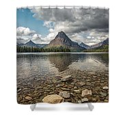 Between A Rock And A Beautiful Place Shower Curtain