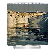 Between Icebergs - Greenland Shower Curtain