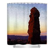 Between Rock And Sky Shower Curtain