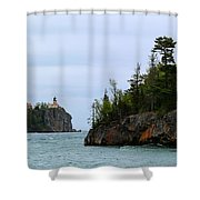 Between Rocks Panorama Shower Curtain