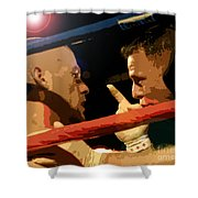 Between Rounds Shower Curtain