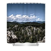 Between The Boulders Shower Curtain