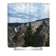 Between The Rocks Shower Curtain