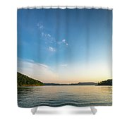 Between The Shores Shower Curtain