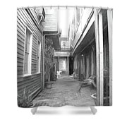 Between The Walls Shower Curtain